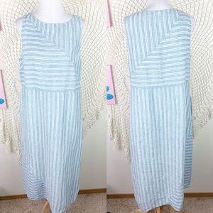 J. Jill Love Linen Striped Maxi Dress XL